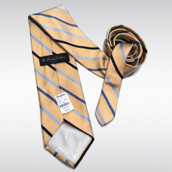 Brooks Brothers Other - NWT Brooks Brothers Makers Yellow Striped Tie